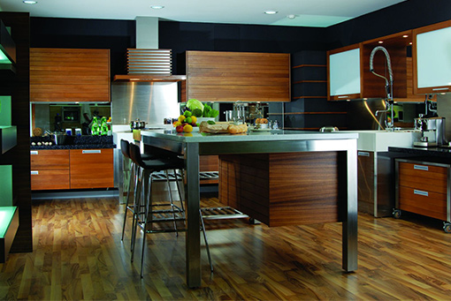 Modern Teak Kitchen