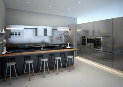 Zeyco Phuket Classical Kitchen Stainless Steel Kitchen7